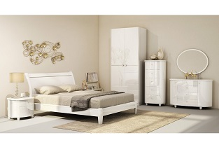 Aztec White Gloss Bedroom Furniture