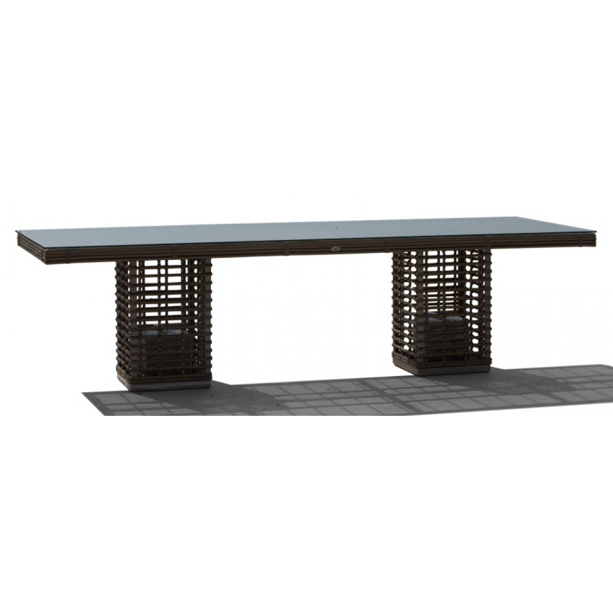 Skyline Castries Rattan 8 Seater Rectangle Table