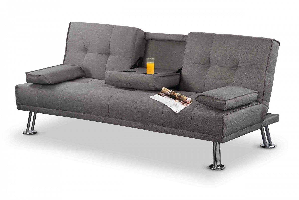 Photo of Naples grey fabric sofa bed