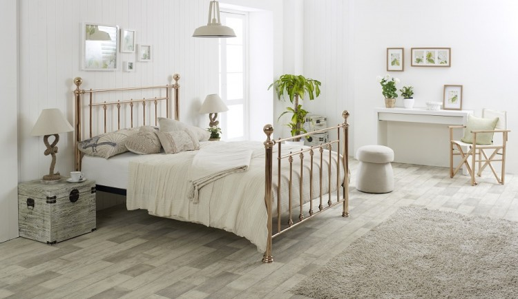 Limelight Libra 4ft6 Double Rose Gold Metal Bed