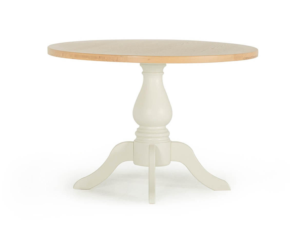 Chalk Two Tone Wooden 110cm Round Table