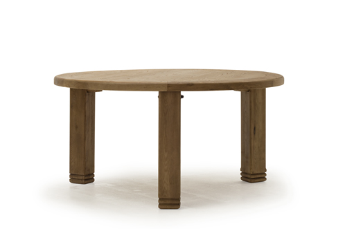 Danube Weathered Oak Round Dining Table