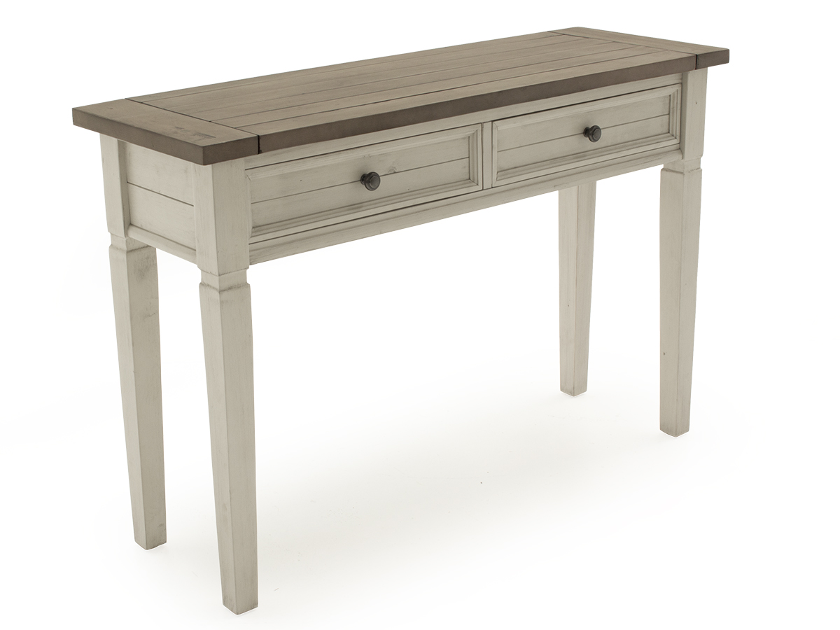 Croft Weathered Ash Wooden Console Table