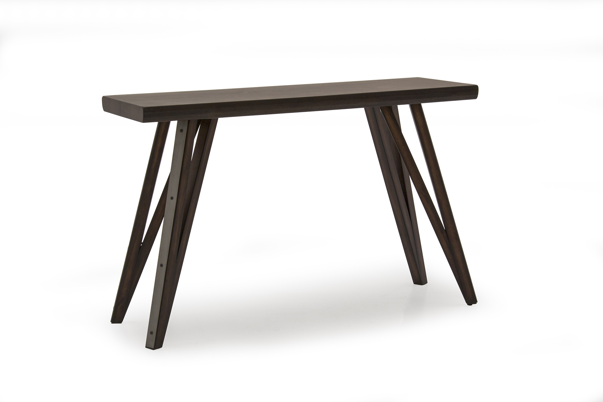 Gratiano Walnut Wooden Console Table