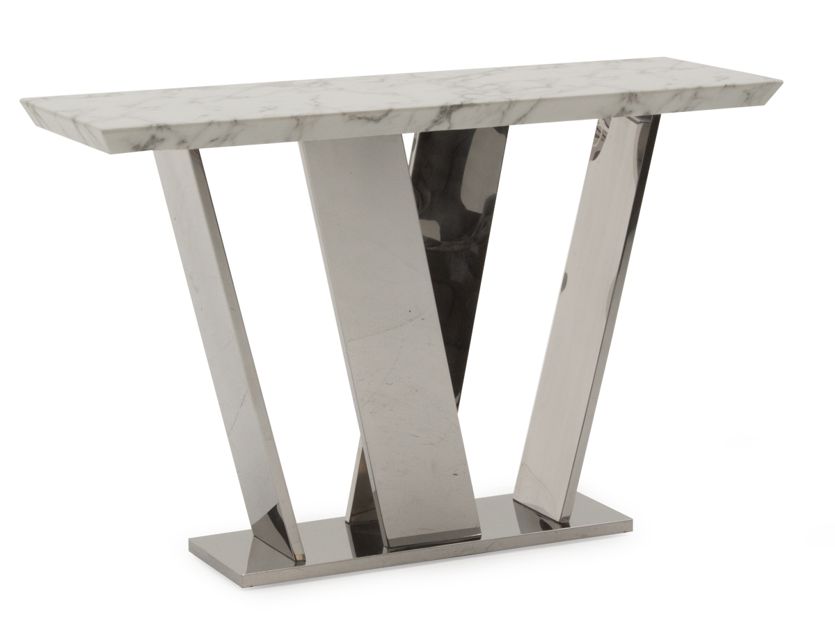 Olena Off White Marble Console Table