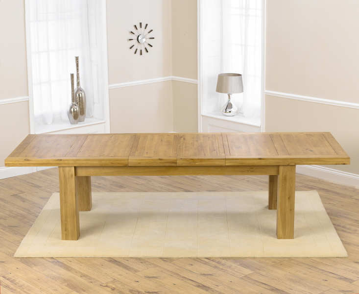 Laurent Solid Oak Extending Dining Table Extending to 320cm