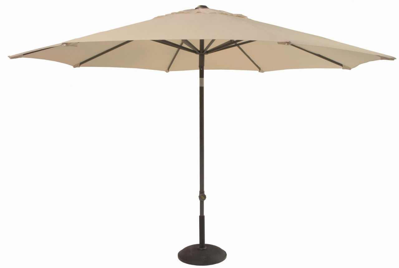 Hartman 3m Solar Parasol in Caramel With Bronze Pole