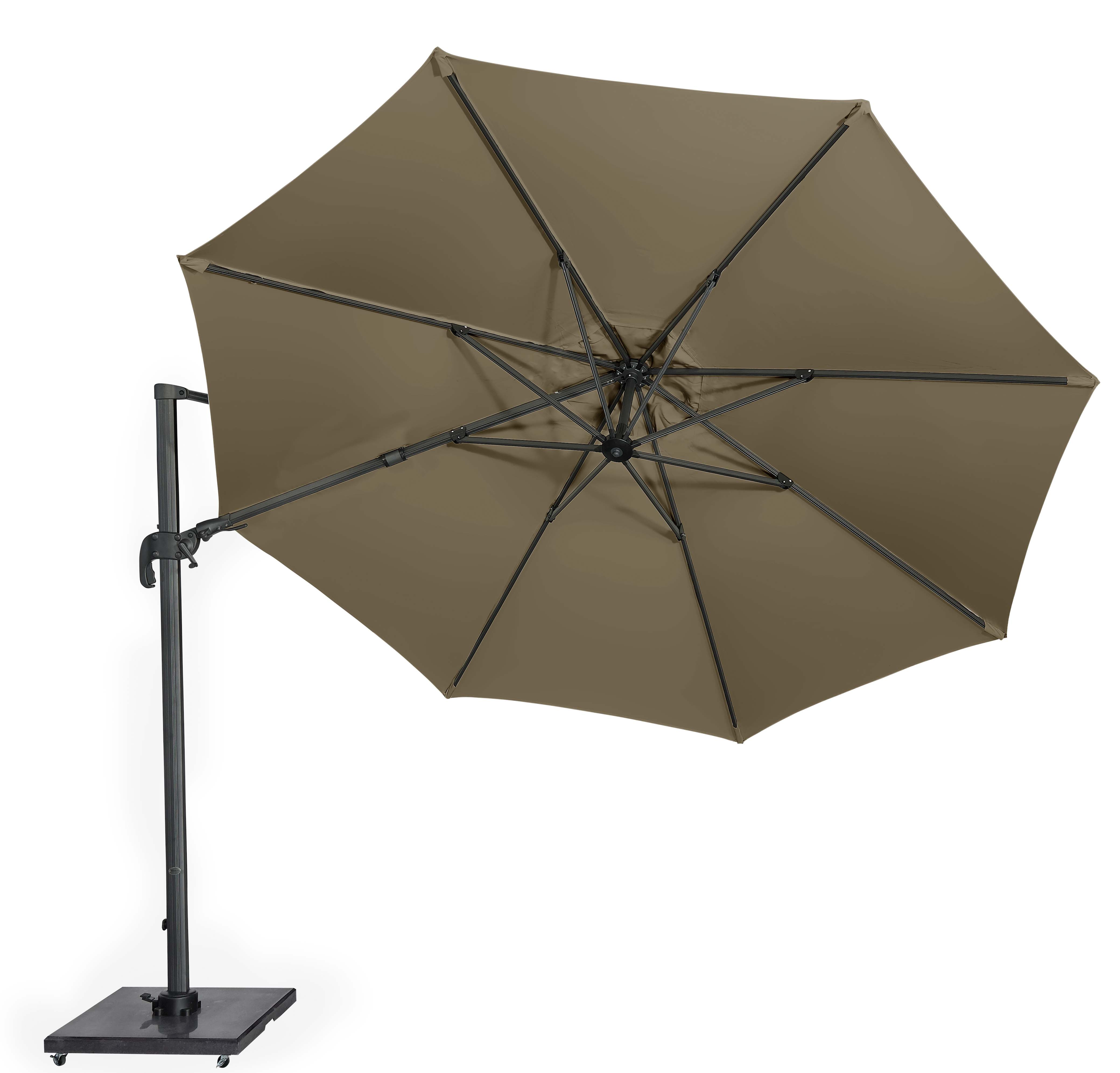 Pacific Solarflex T2 3.5m Rd Taupe Parasol Excluding Base
