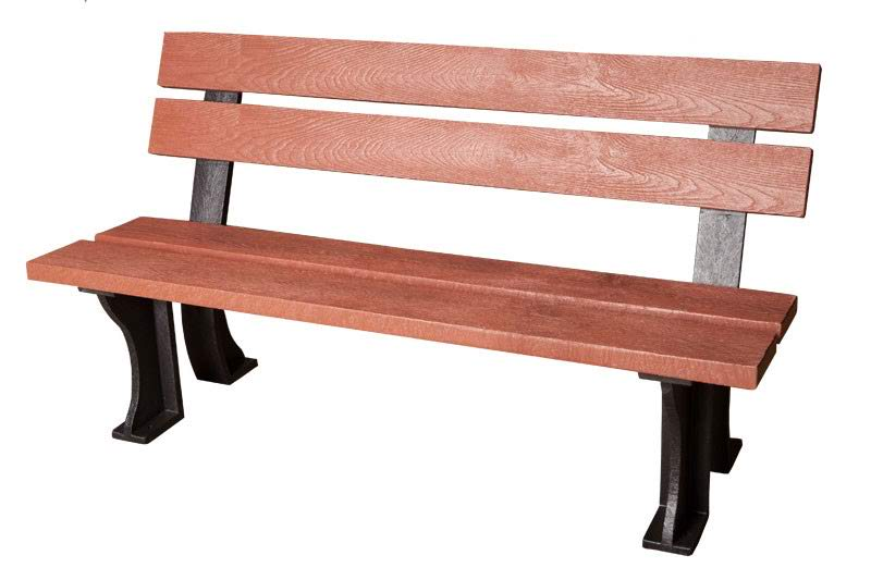 Photo of Red 150cm armless bench