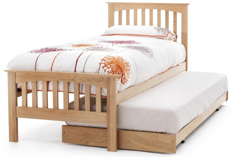 Serene Windsor Oak 3ft Single Guest Bed