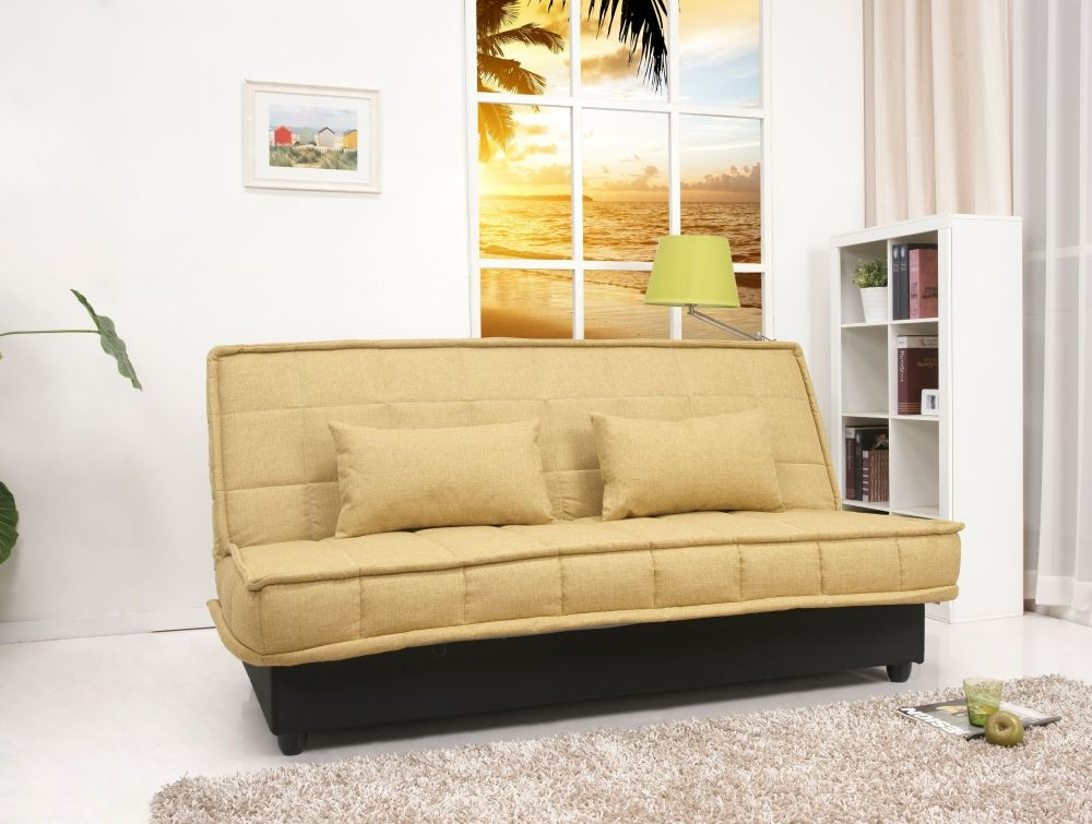 Yoko Lemongrass Green Fabric Sofa Bed with Storage and Detachable Cover