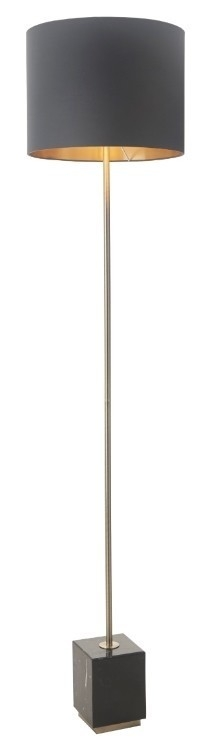 RV Astley Carmel Antique Brass And Marble Floor Lamp