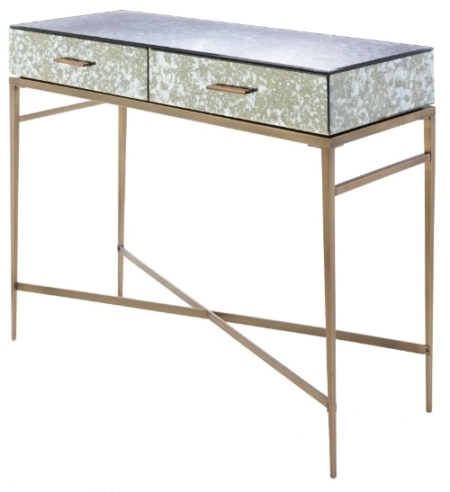 RV Astley Dallin Mirrored Console Table