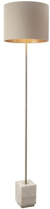 RV Astley Sintra Antique Brass And Marble Base Floor Lamp
