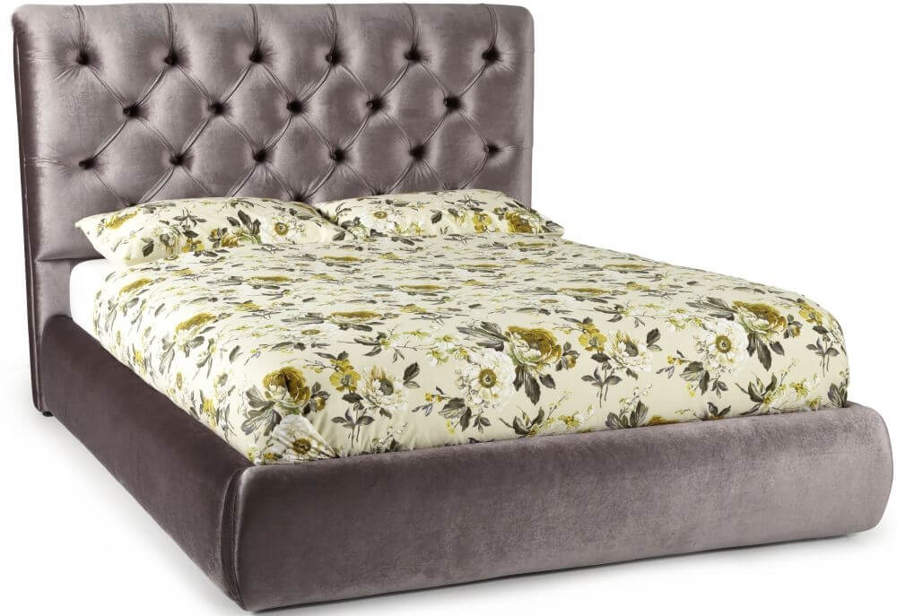 Photo of Serene alexandra 4ft6 double lilac fabric bed