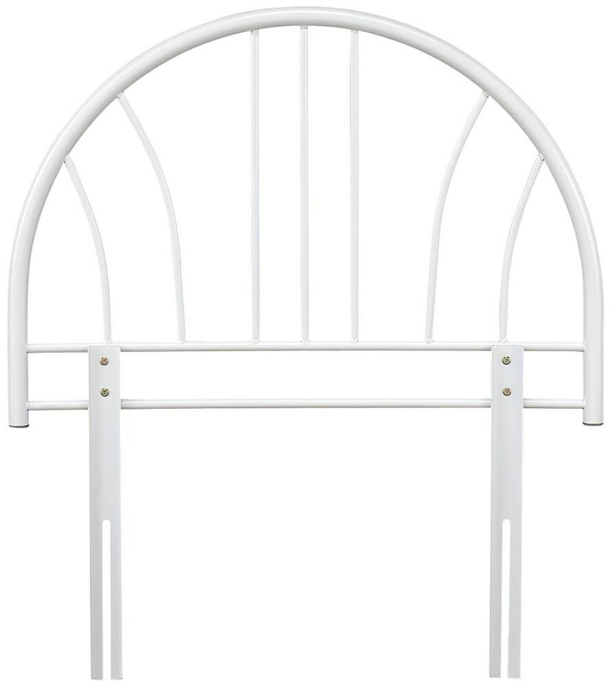 Serene Annabelle 3ft Single White Metal Headboard