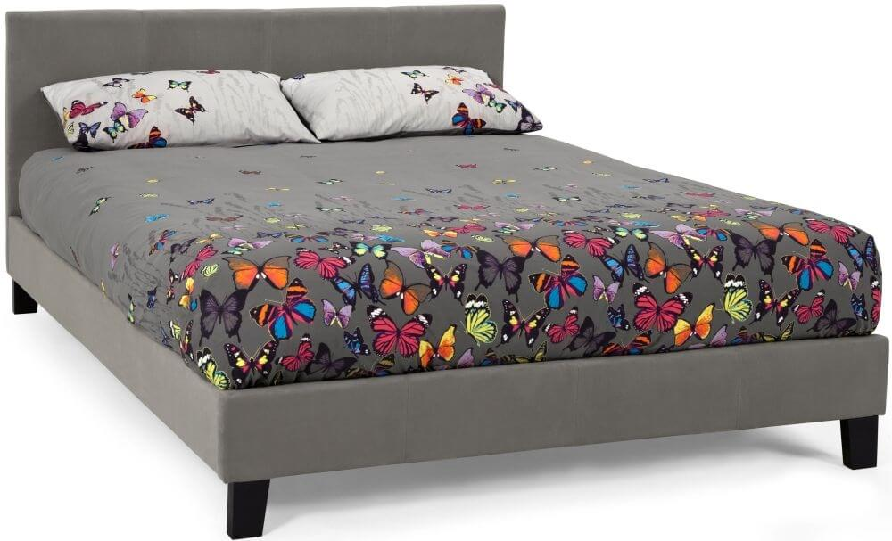 Serene Evelyn 4ft Small Double Steel Fabric Bed