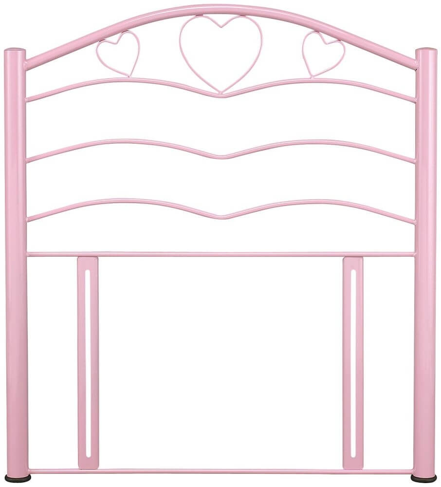 Serene Yasmin 3ft Single Pink Metal Headboard