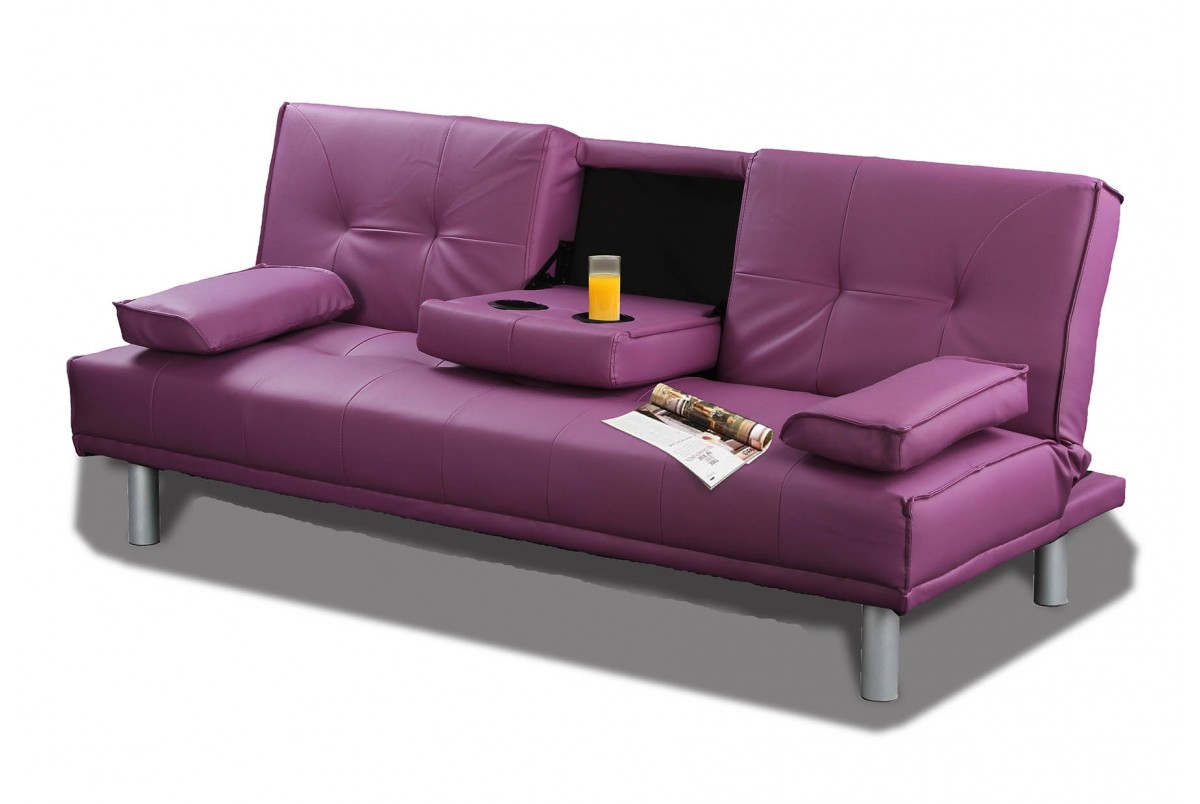Purple leather sofa bed for Purple leather sofa