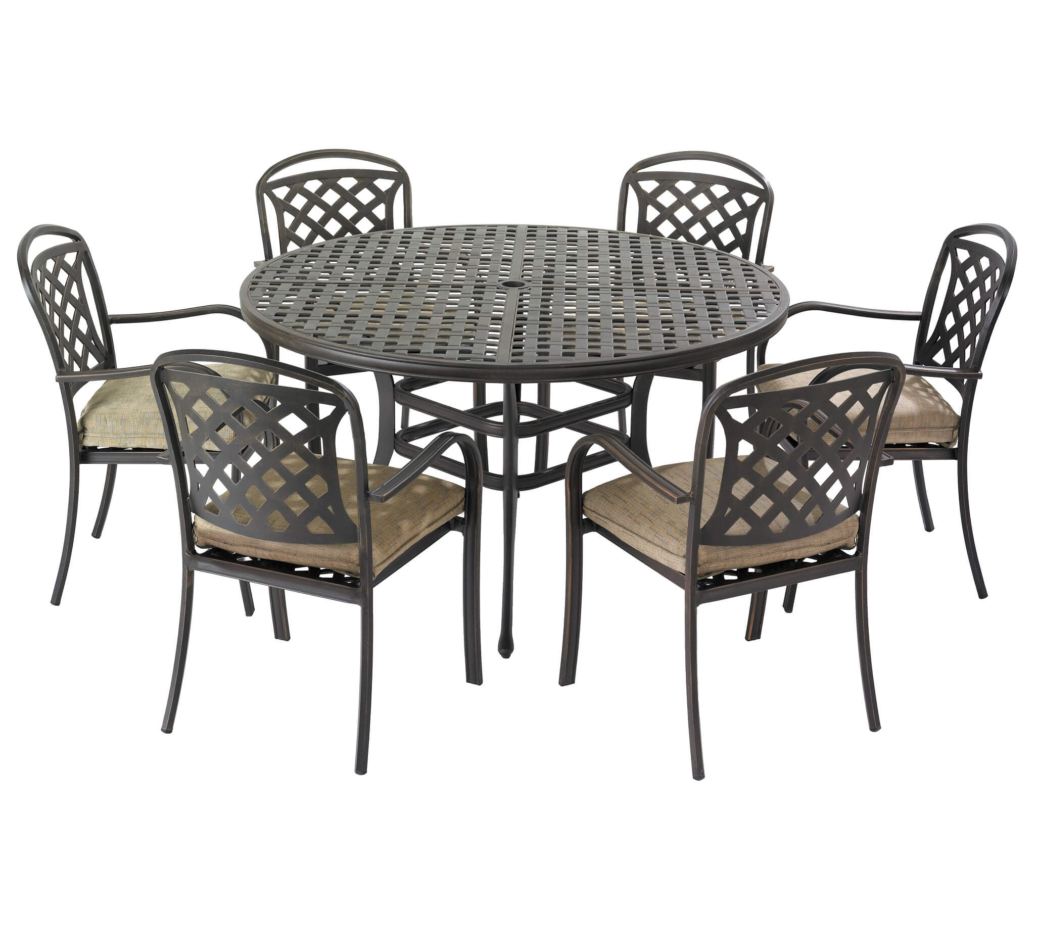 Hartman Berkeley 6 Seater Garden Furniture Set + FREE Cushions, Parasol and Base