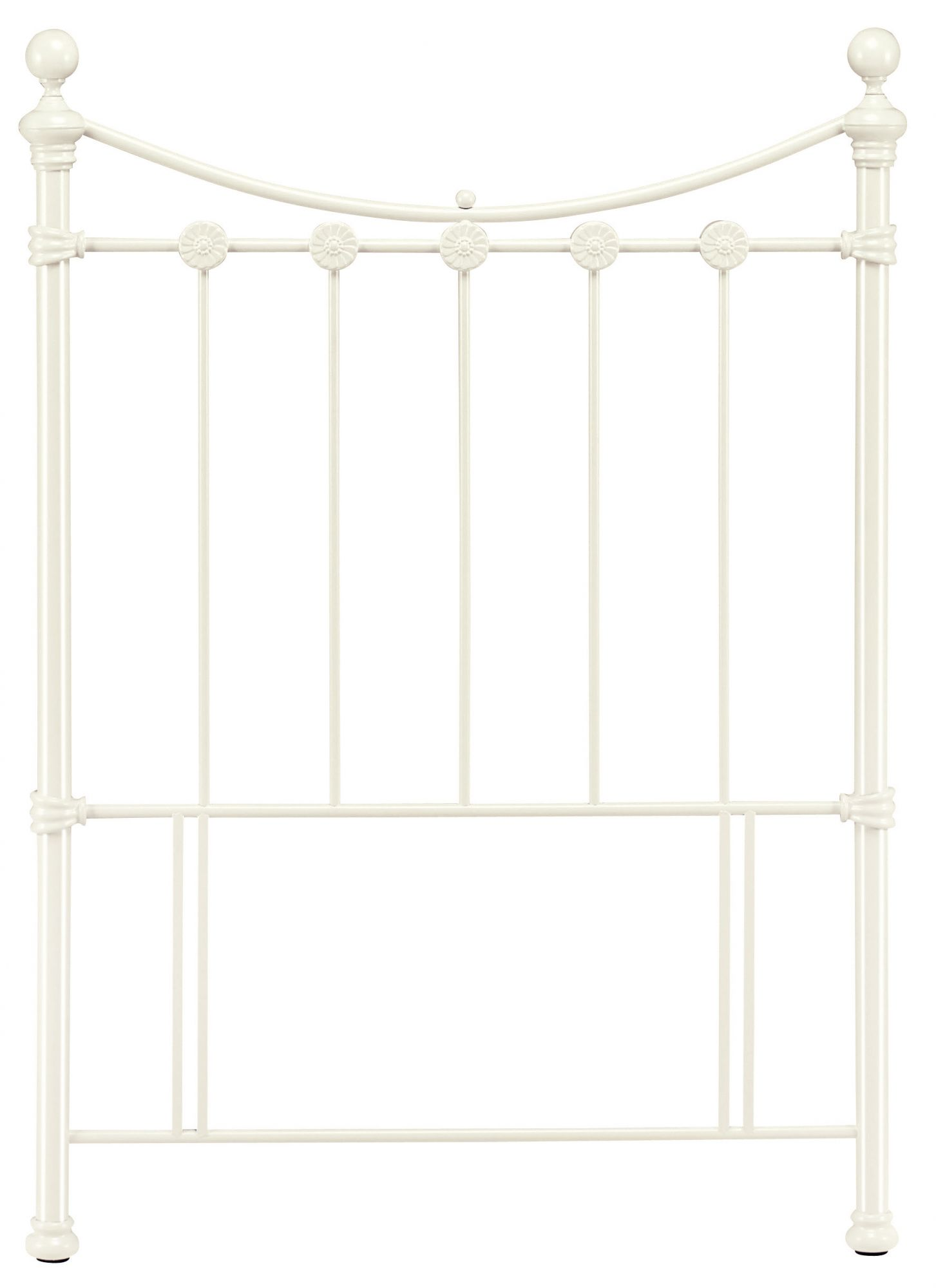 Bentley Designs Alice Antique White 3ft Single Metal Headboard