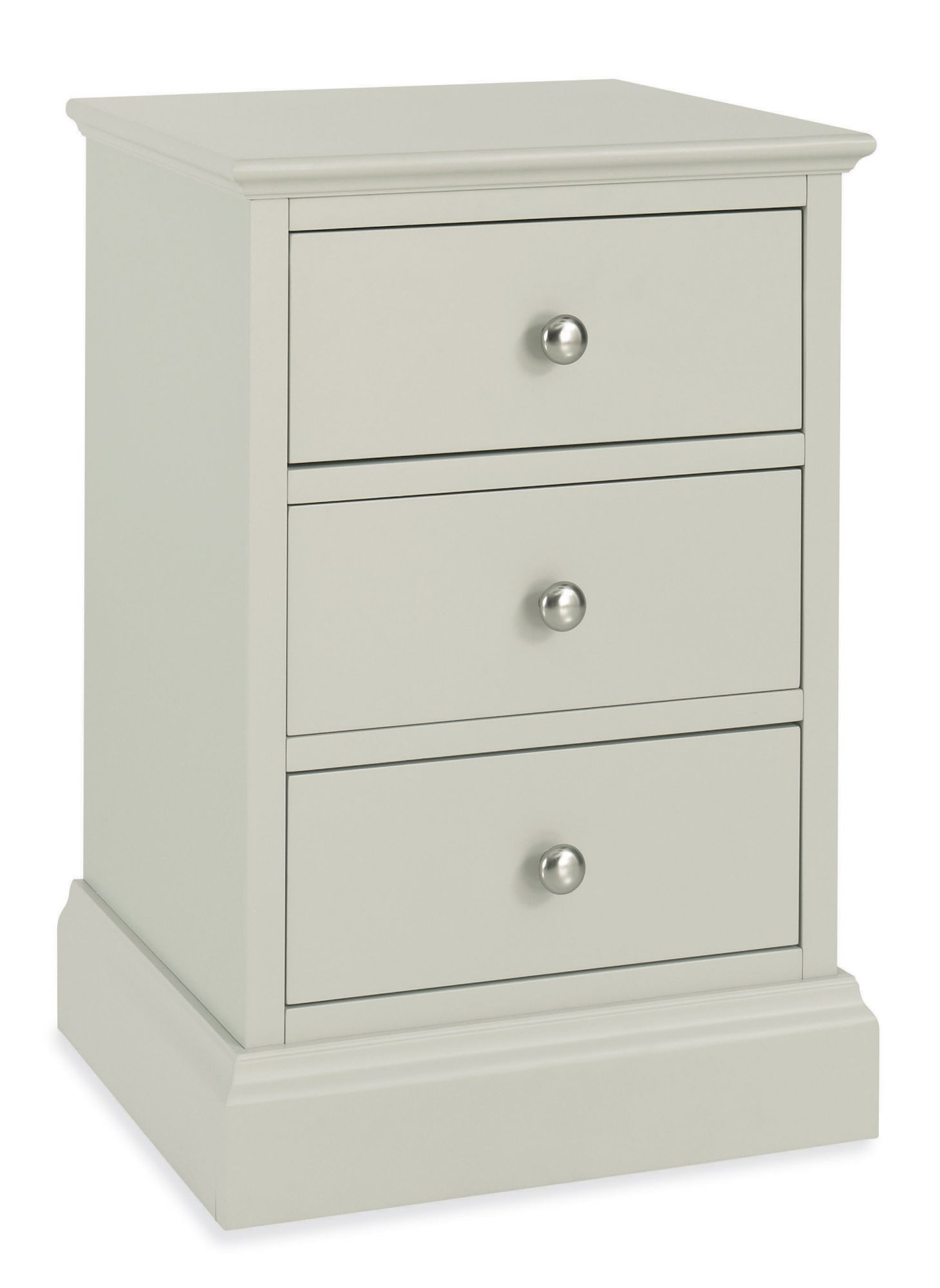 Photo of Bentley designs ashby cotton 3 drawer nightstand