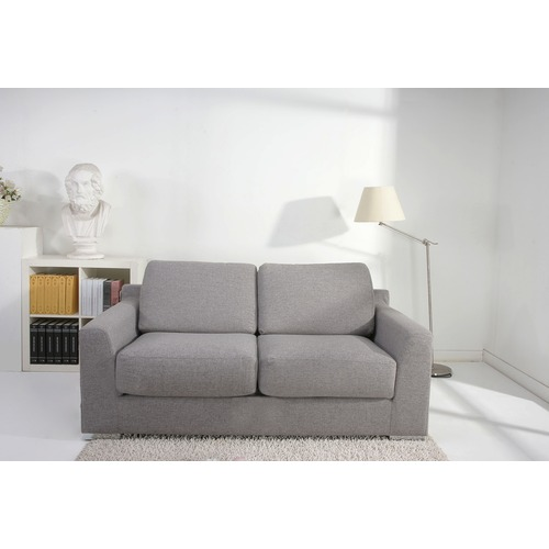 Photo of Paris peppered grey fabric sofa bed