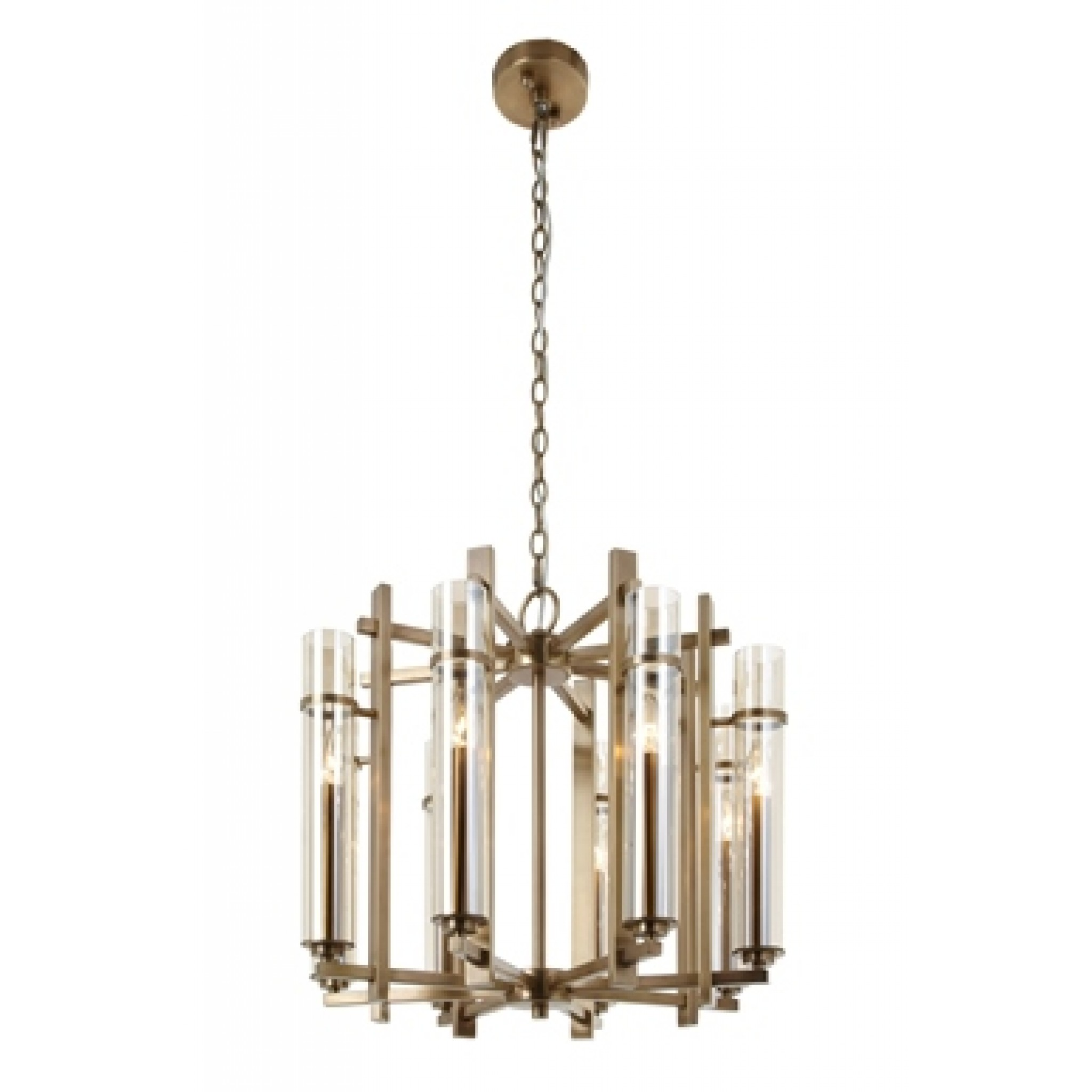 RV Astley Louis Antique Brass 8 Light Chandelier