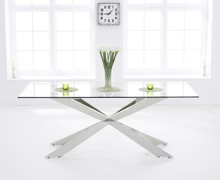 Photo of Jazz 200cm glass dining table