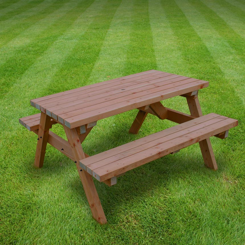 Click to view product details and reviews for Rutland Oakham 5ft Rustic Brown Picnic Bench.