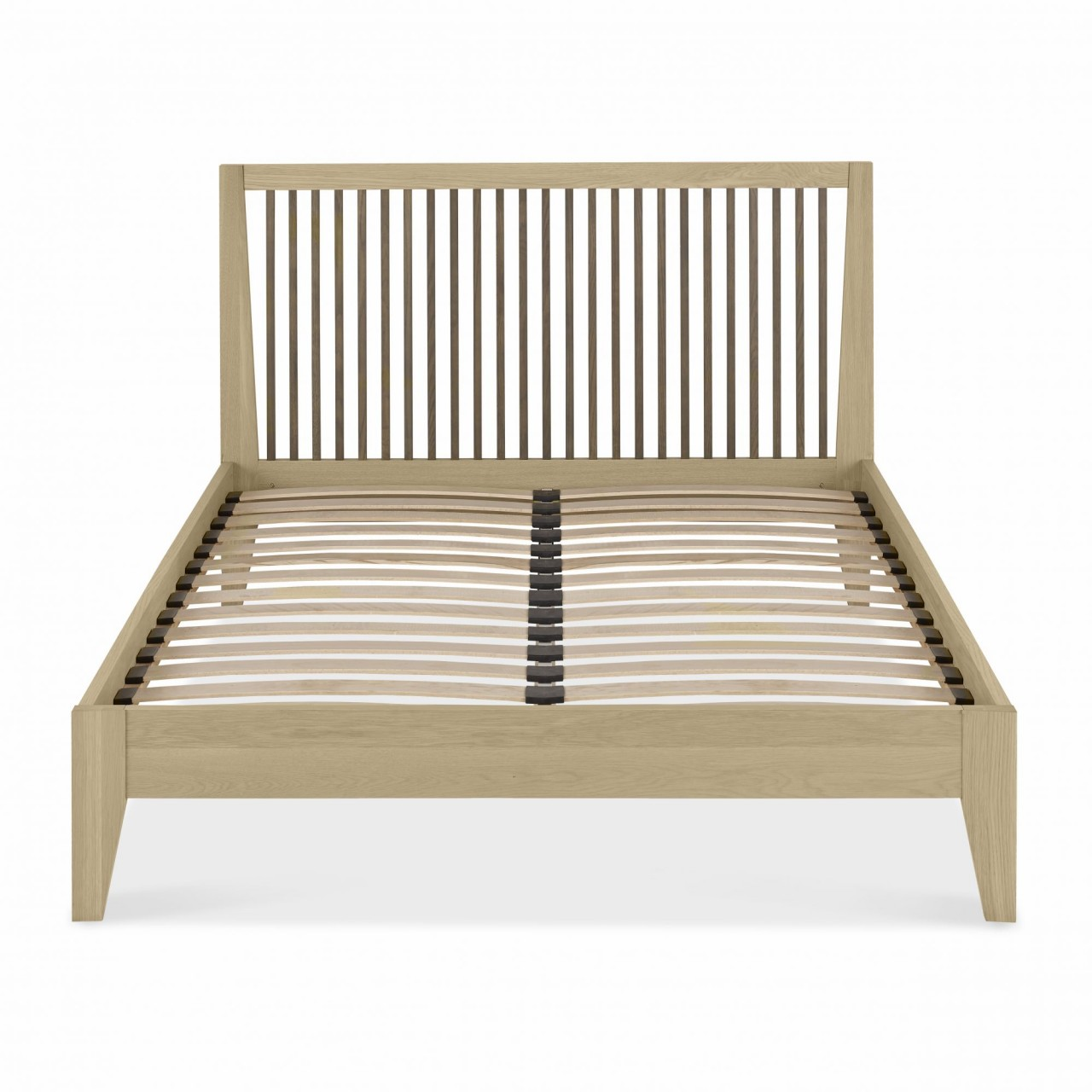 Photo of Bentley designs rimini aged oak and weathered oak 4ft6 double slatted bed