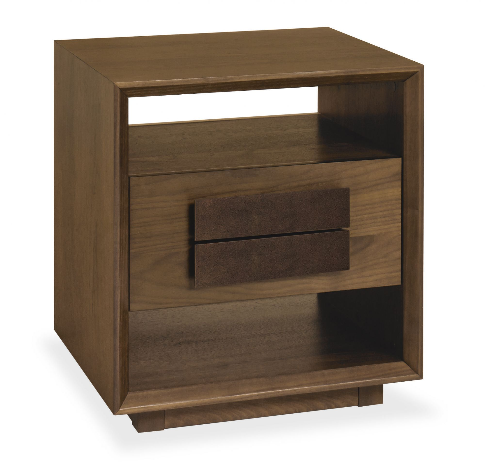 Bentley Designs City Walnut Lamp Table With Drawer
