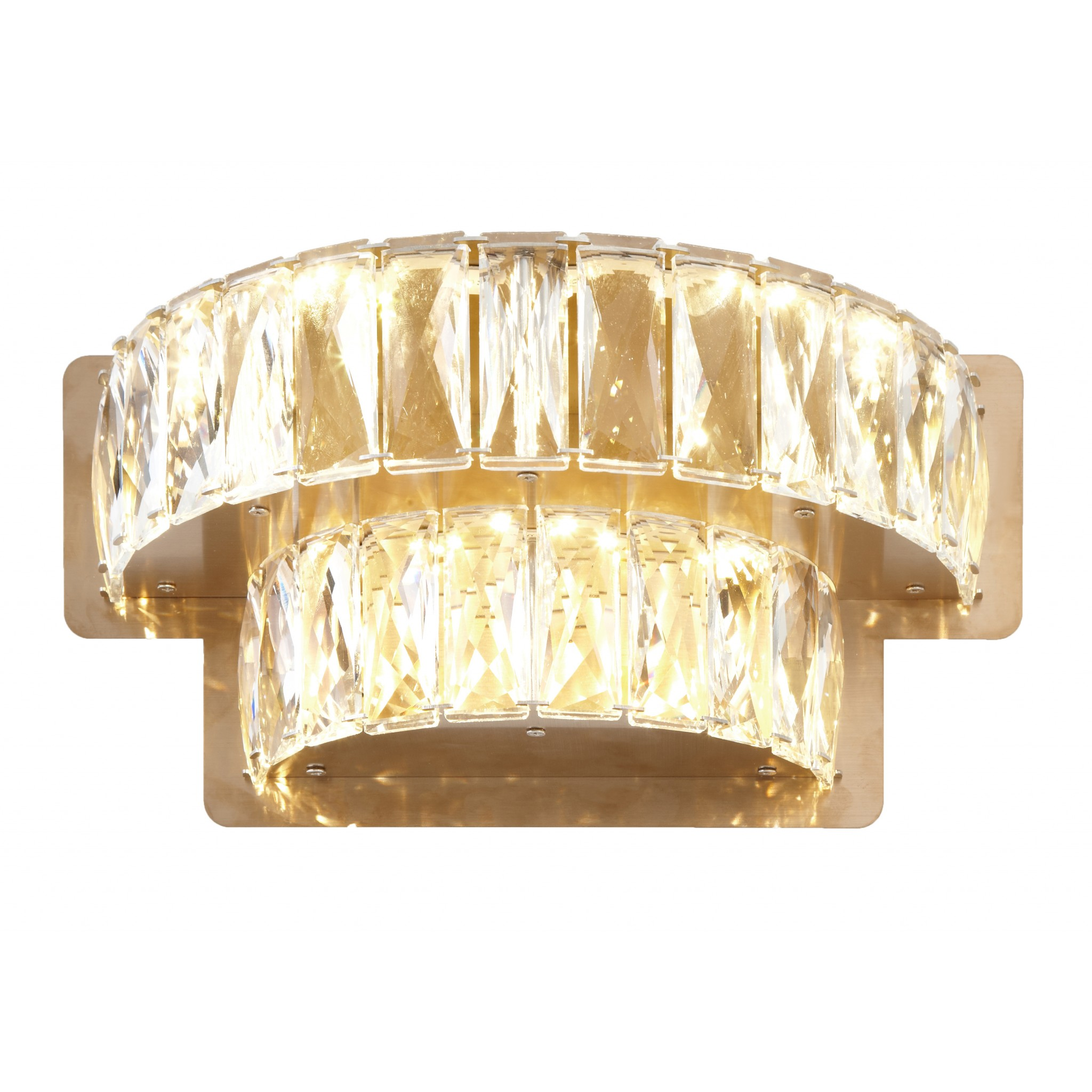 RV Astley Giness Crystal 2 Tier Wall Light