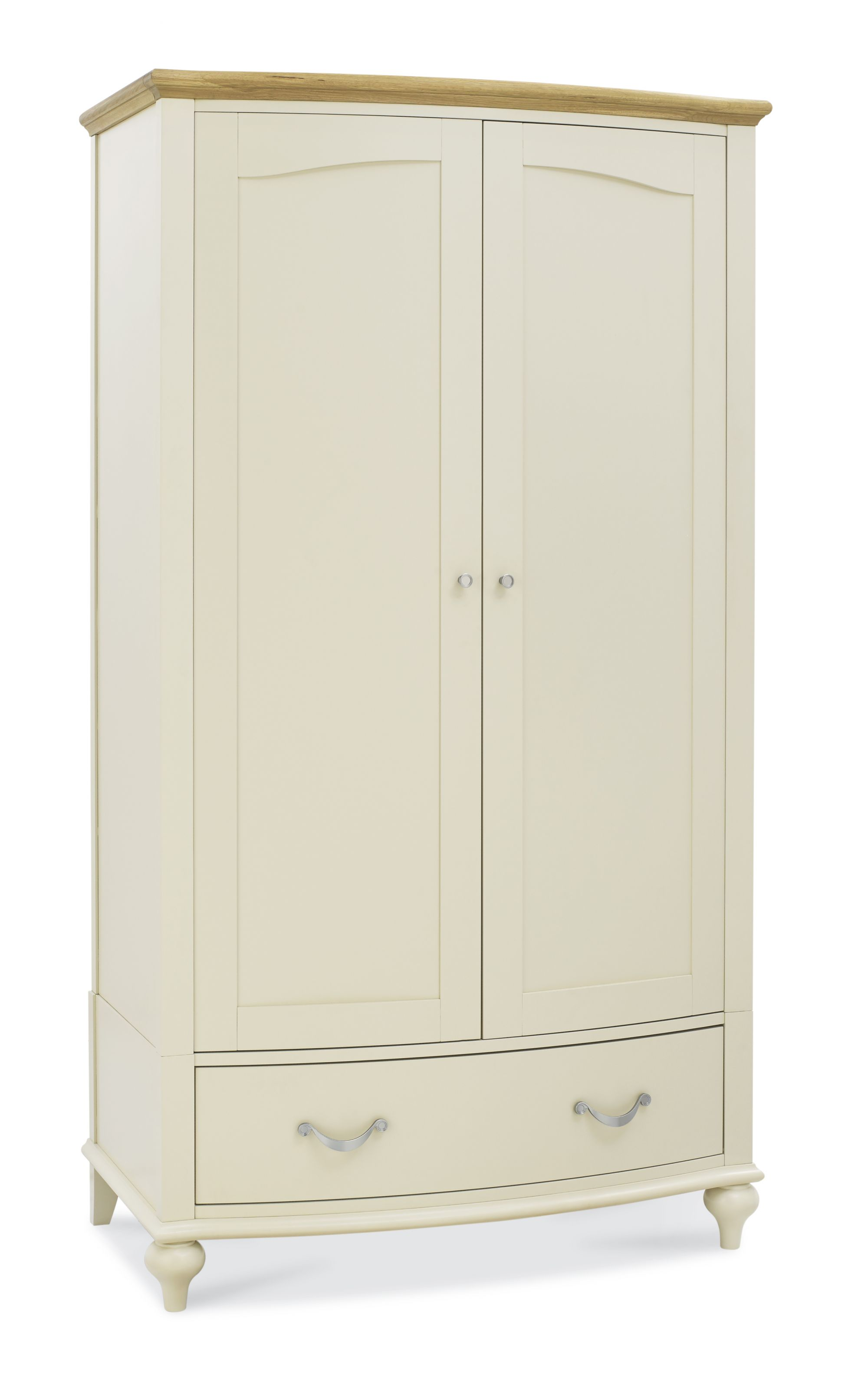 Bentley Designs Montreux Pale Oak And Antique White Double Wardrobe