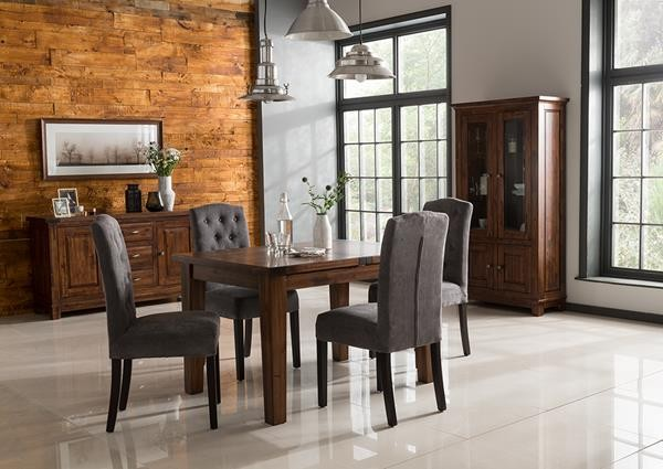 Emerson 120cm Extending Dining Table + 4 Slatted Back Chairs