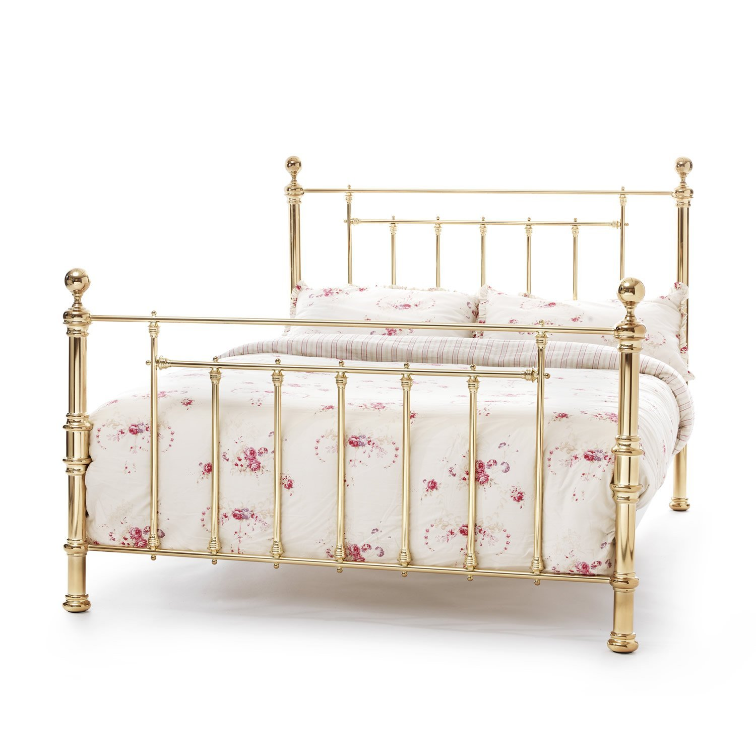 Serene Benjamin 4ft Small Double Brass Metal Bed Frame
