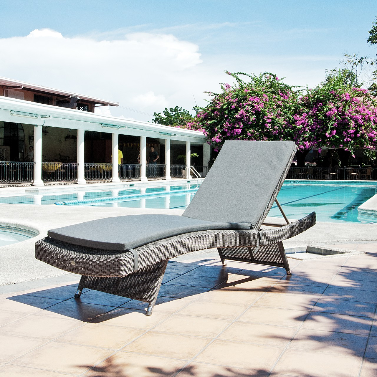 Photo of Alexander rose monte carlo adjustable sunbed with cushion