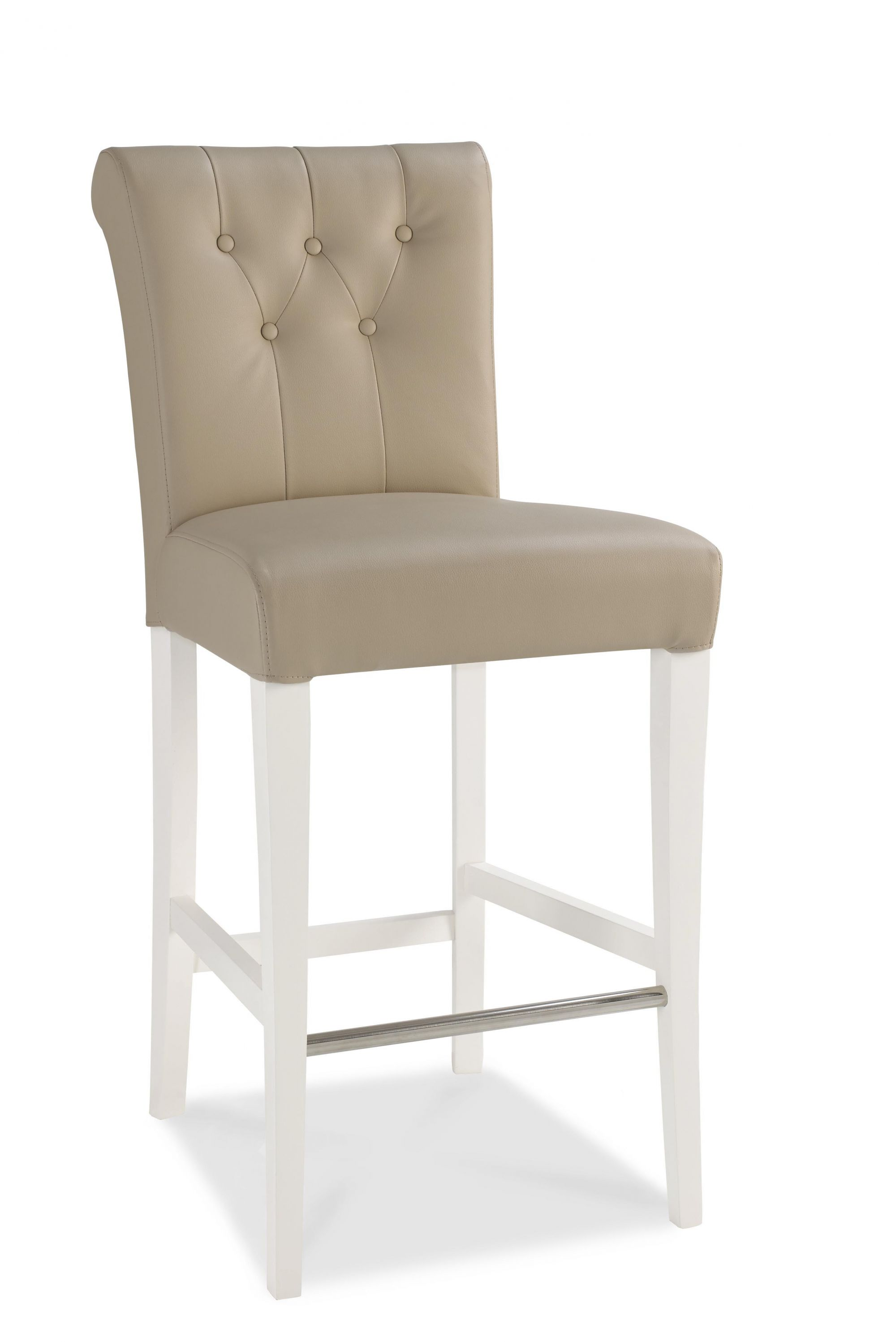 Bentley Designs Hampstead Two Tone Upholstered Bar Stool Pair