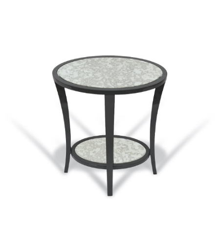 Rv astley modena black glass small side table go - Rv side tables ...