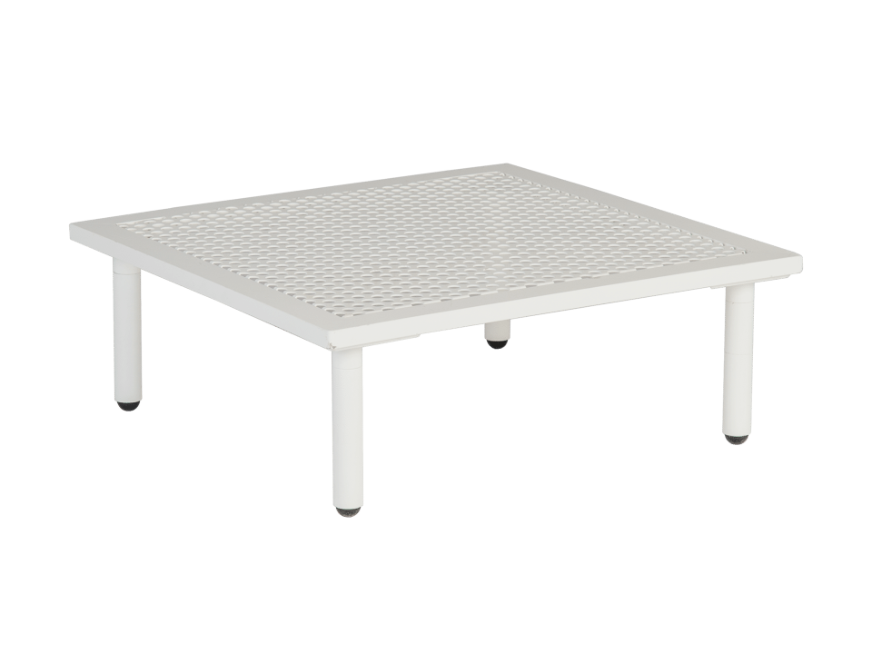Photo of Alexander rose beach alu top white mesh steel lounge side table