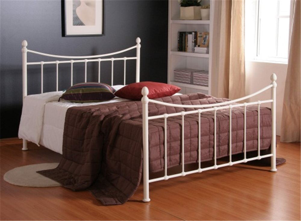 Alderley 4ft Small Double Ivory Metal Bed