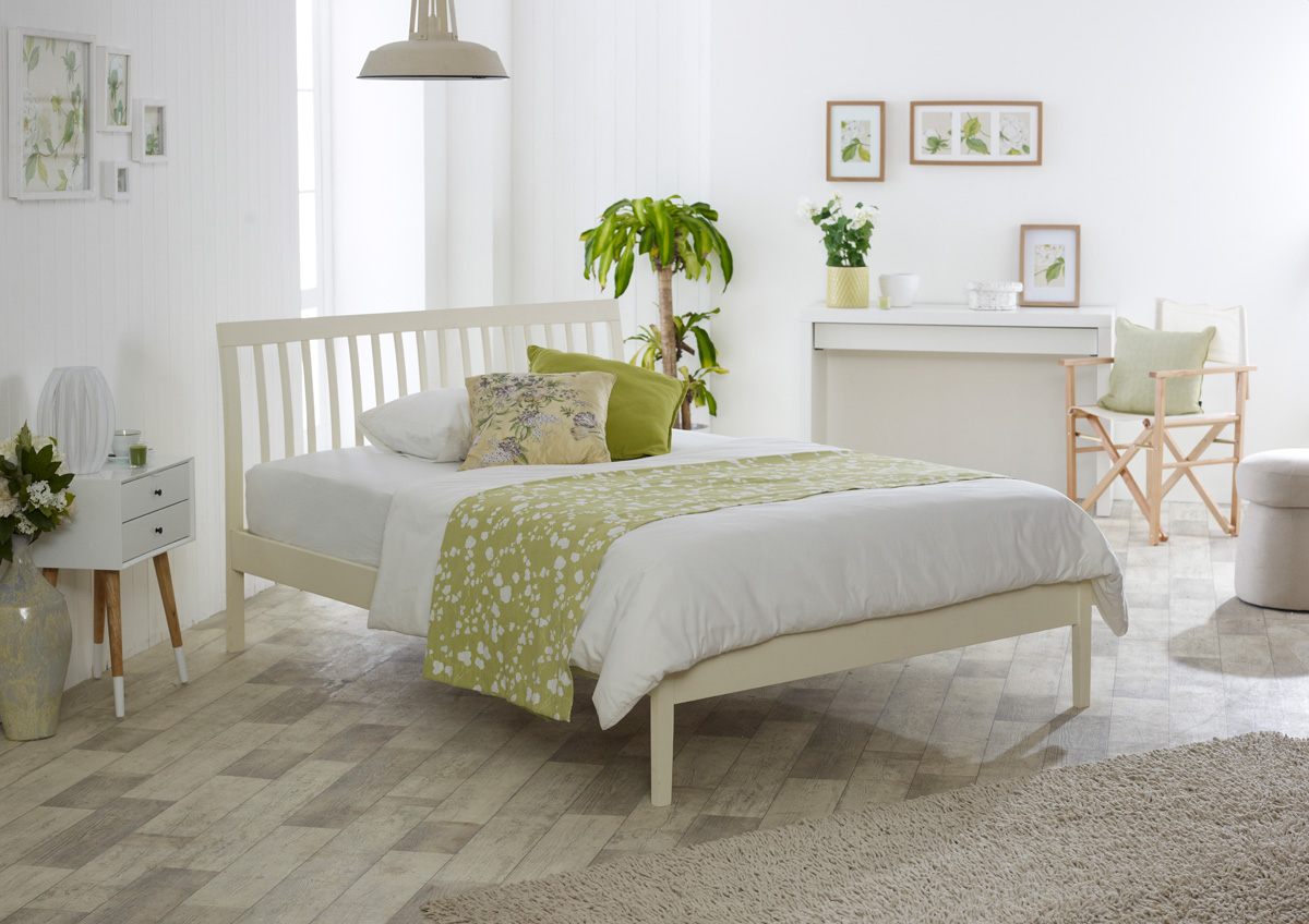 Limelight Ananke 4ft Small Double Buttermilk Wooden Bed