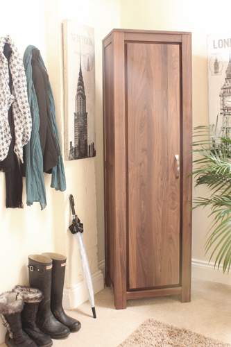 Click to view product details and reviews for Baumhaus Mayan Walnut Tall Shoe Cupboard.