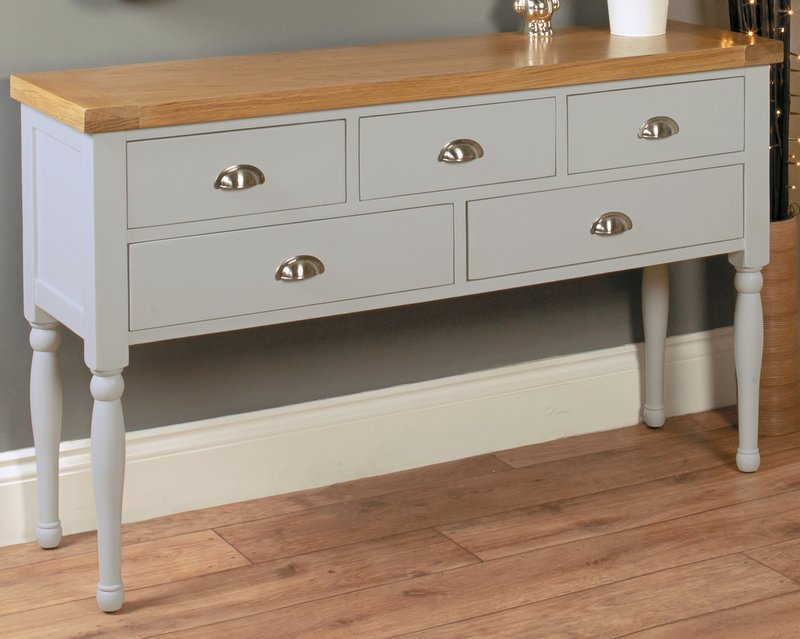 Chadwick Grey Painted Console Table With Drawers