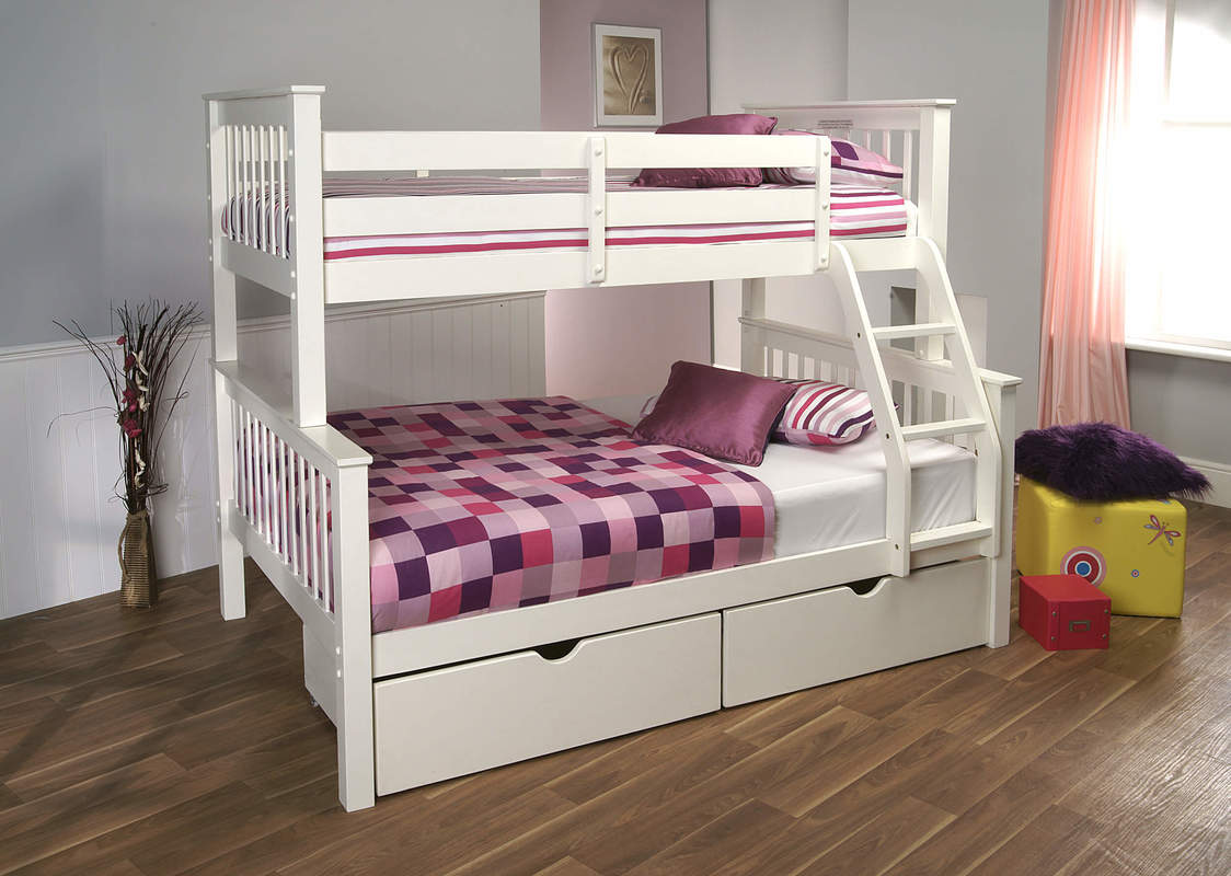 Limelight Pavo 3ft Single White Pine High Sleeper Bunk Bed