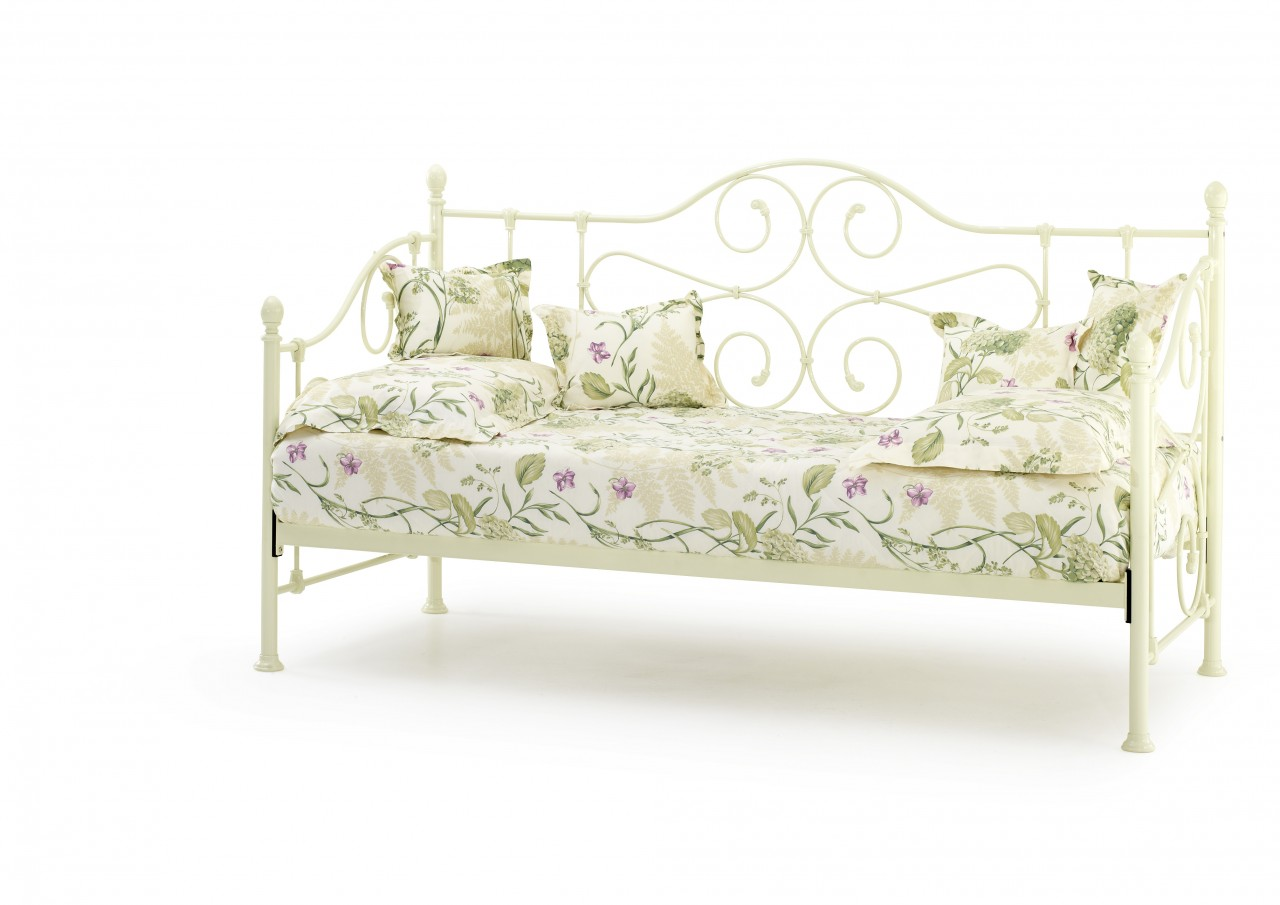 Serene Florence 3ft Single Ivory Metal Day Bed