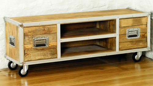 Photo of Roadie chic widescreen television cabinet with two doors