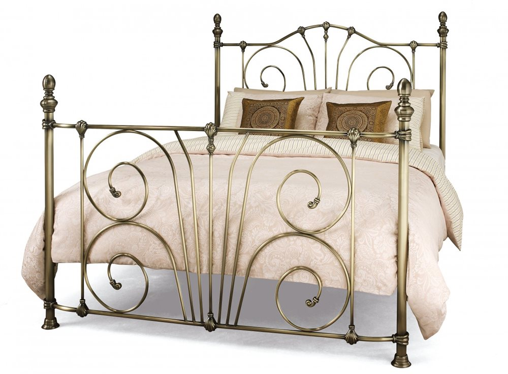 Photo of Serene jessica 6ft super king size antique brass metal bed