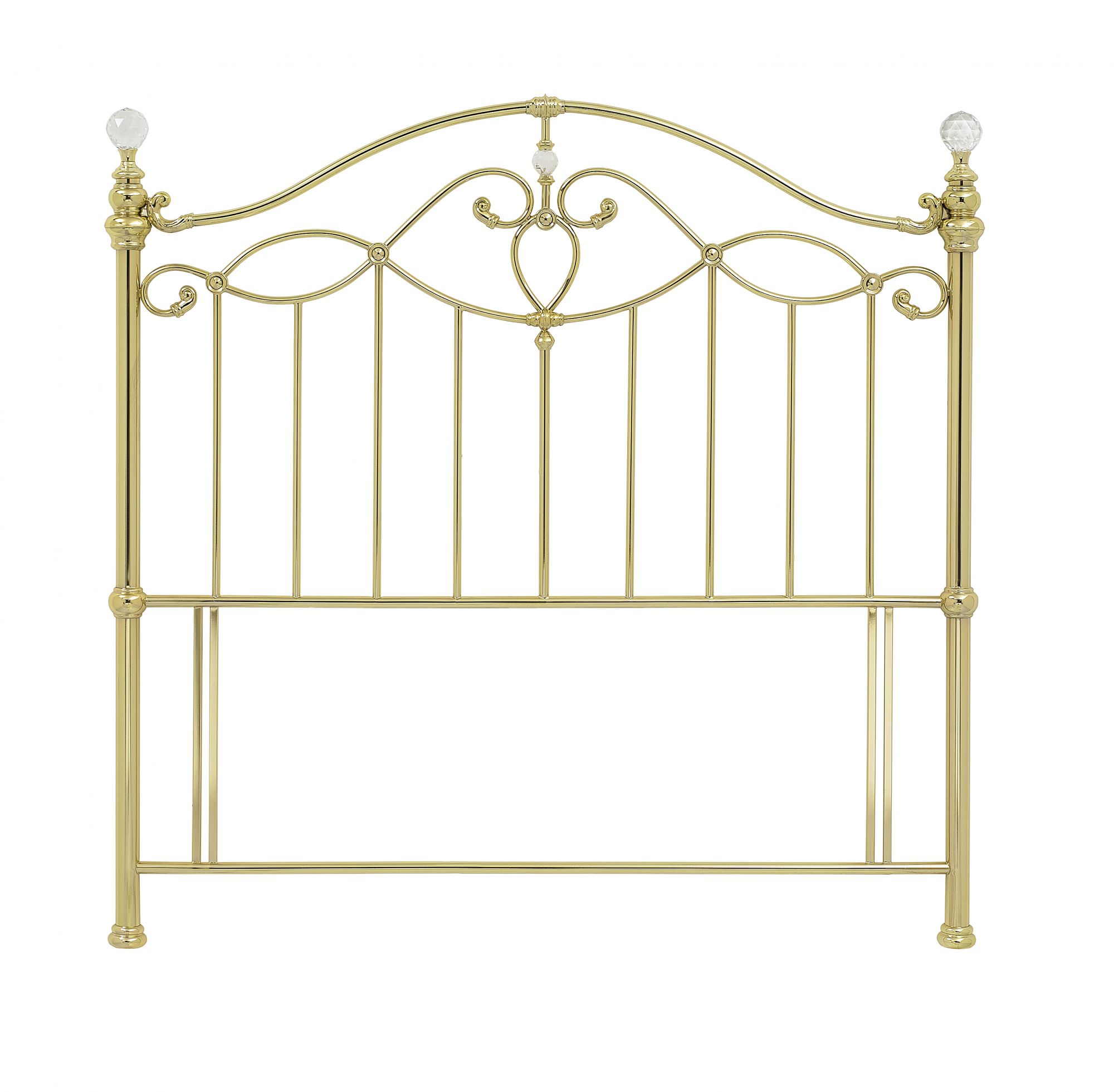 Photo of Bentley designs elena 5ft kingsize shiny gold metal headboard