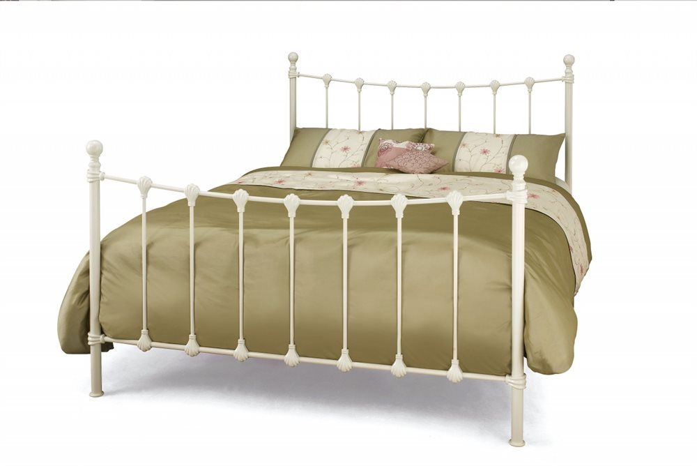 Serene Marseilles 4ft6 Double Ivory Metal Bed